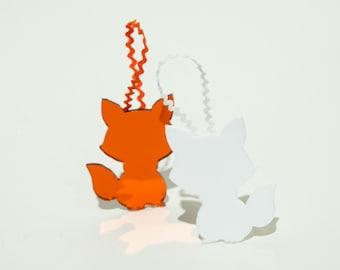 Fox Christmas Ornament, Sly Fox Magnet, Cute Christmas Decoration!