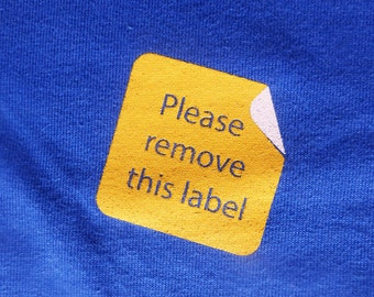 Please Remove This Label Ribeye Design graphic t-shirt new