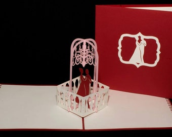3-D Wedding Pop-Up Card