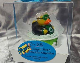 Super Hero Duck Bubble Cupcake
