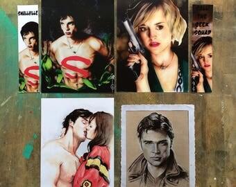 Chloe Sullivan ( Smallville) POSTAL CARD