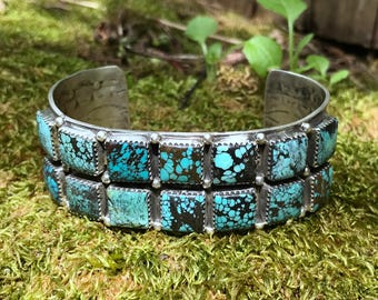 14 Square Turquoise Row Bracelet by G James