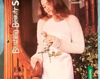 2000 House of White Birches Blushing Beauty Shrug Knitting Pattern Leaflet