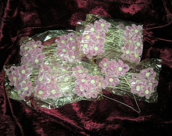 77 chenille flowers at the wire in pink - flowers -.