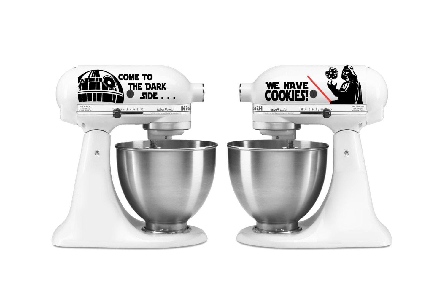 Kitchen Mixer Decals ~ Kitchen mixer star wars darth vader set decal vinyl