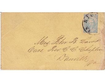 Confederate Cover Scott# 2a 1860's Richmond Cancel
