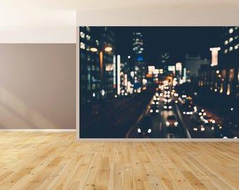 Wall Art City Lights Wallpaper HUGE