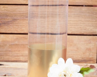 Metallic Gold Tall Vase