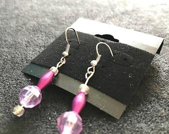 Pink Spring Dangle Earrings