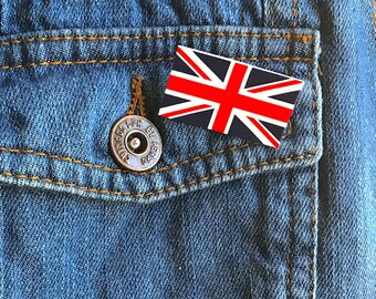 Uk flag union jack flag united kingdom flag pin brooch cute pin grunge mothers day gift holiday gift
