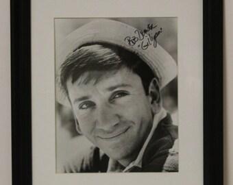 Bob Denver, Gilligan's Island, Black and White 8x10 Print Photo Signed Autograph, Framed Matted