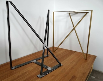 Any color Set of Steel Table Legs Hand Made in Poland Steel