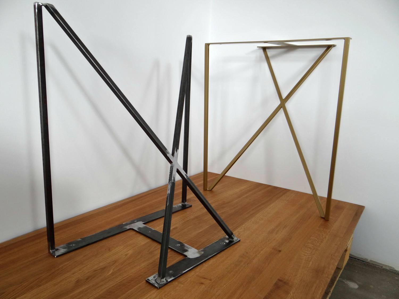 set aus stahl esstisch beine metall tischbeine f r. Black Bedroom Furniture Sets. Home Design Ideas