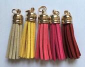 Brights Suede Zipper Tassels - 4.5cm