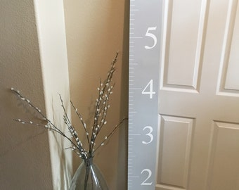 Gray Growth Chart, Ruler, Measuring Stick, Nursery, Kids Growth Chart Ruler, Life Size Ruler, Giant Ruler