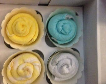 4 washcloth cupcakes