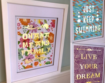 Inspirational Quotes - Unframed Layered Paper Art