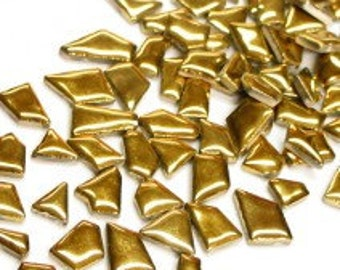 Jigsaw Mosaic Tiles - Gold - 100g