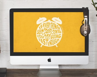 Mario Andretti Quote, Move Fast, Desktop Wallpaper, Computer background, Digital wallpaper, Instant download, Laptop wallpaper
