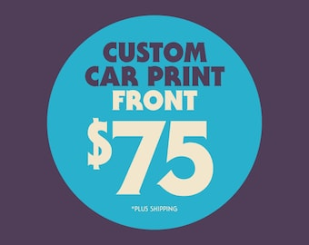 Custom Car Illustration Poster - Front