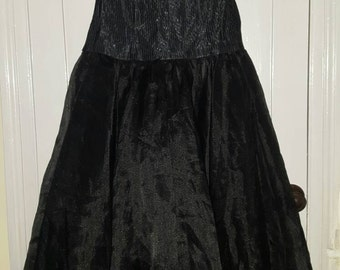 Classic 80's prom party dicso dress boned bodice size 10/12