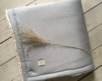 Nest of transformable Angel on the cover baby - peas cotton Chambray and 100% organic cotton plush - 80 * 80cm