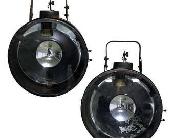 Vintage industrial spot or ship signal lamp 1960s