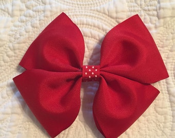 Classic Large Red Bow