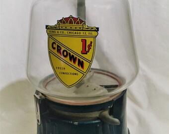 A King and Co. Gum Ball Machine