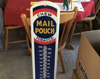 Vintage, Full Length Mail Poach Tobacco Thermometer