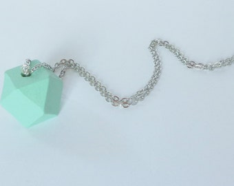 Polygon Wood Green necklace