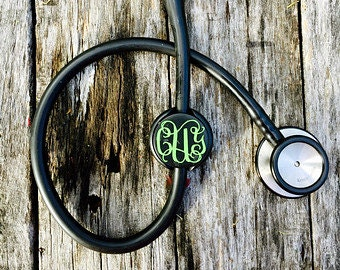 Stethoscope Monogram Clip; Stethoscope Accessories; Nurse Monogram Clip; Nurse Accessories; Nurse Gift; Cute Nurse Gift; Nursing Graduate