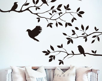 Birds on a Branch Wall Decal - Decor Wall Sticker | PP209