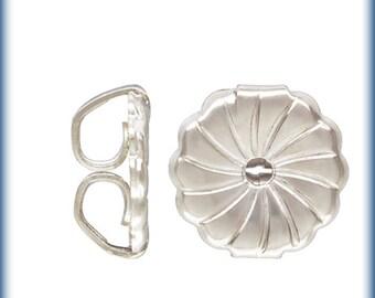 Swirl Earrings Back Sterling Silver ,Light weight Swirl backs - FS1
