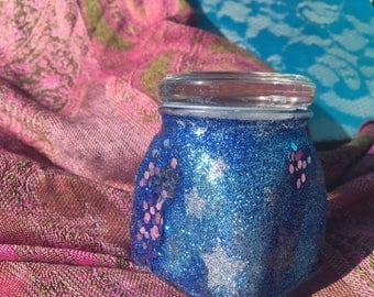 Starry Night Sparkle Stash Jar