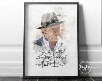 Westworld Print - Dr Robert Ford   A6/A5/A4/A3 Illustration Print   Westworld TV Poster   For Him, For Her