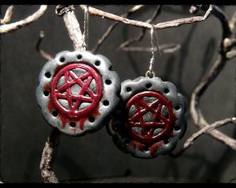Bloody Pentagram - earrings