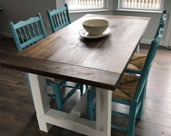 Farmhouse Style Dining Table - Rustic Dining Table - Wooden Dining Table - Farmhouse Furniture - Farmhouse Table - Farmhouse Dining Table