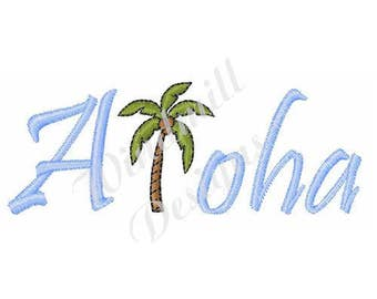 Aloha - Machine Embroidery Design
