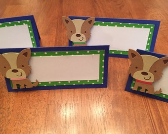 Puppy Dog Party, Puppy Food Cards, Puppy Dog Placecards, Puppy Dog Birthday Party Decorations