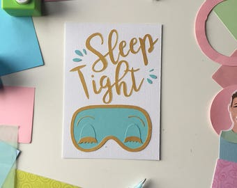 Cut Paper Illustration: SLEEP TIGHT