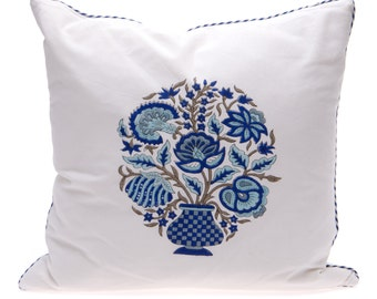 SALE - Blue Vase Cushion