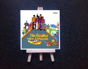 The Beatles - Yellow submarine -  ceramic tile with easel