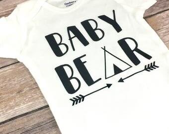 Baby Bear Onesie, Tribal Onesie, Siblings Matching Shirts