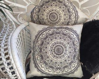 Set of 2 Mandala Cushion Covers FREE POST