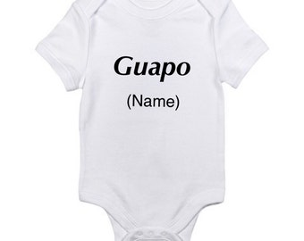 Chiquitochiquita bilingual onesie baby shirt spanish onesie boy onesie guapo onesie spanish shirt boy guapo baby boy shirt outfit baby negle Images