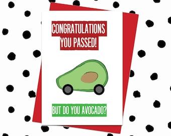 Congratulations Driving Test Card. Pass Driving Test Card. Congratulations You Passed Driving Test Card. Funny Driving Test Card