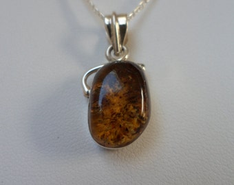 Authentic Dominican Handmade Multi-Colored Amber Necklace in 925 Silver