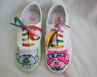 SOLD! Hand Painted Trolls Shoes!