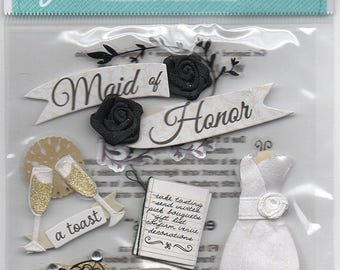 Jolee's Boutique | Dimensional Stickers | 5 Pc | Maid of Honor